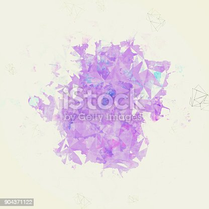 istock abstract colorful polygon texture background. 904371122