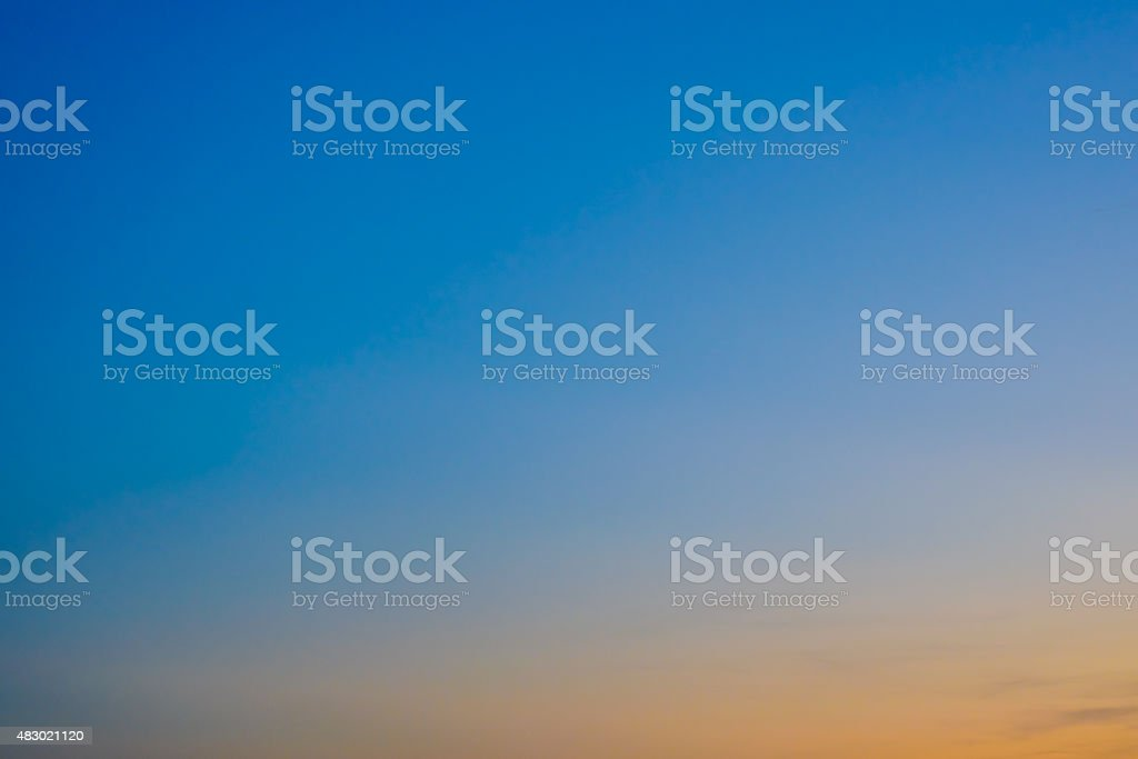 Abstract Colorful sky in twilight time for background stock photo