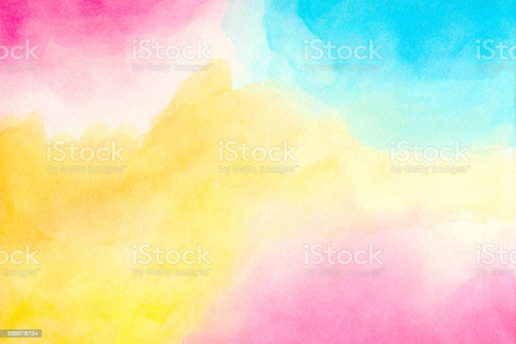抽象多彩水彩背景。手工藝術繪畫。圖像檔