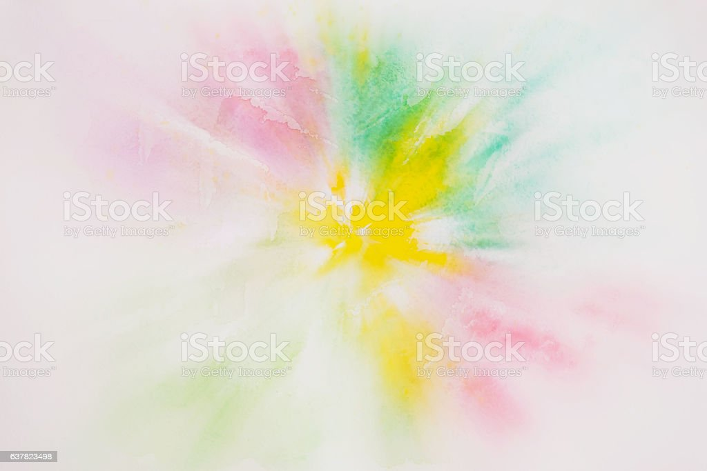 Abstract colorful watercolor for background. stock photo