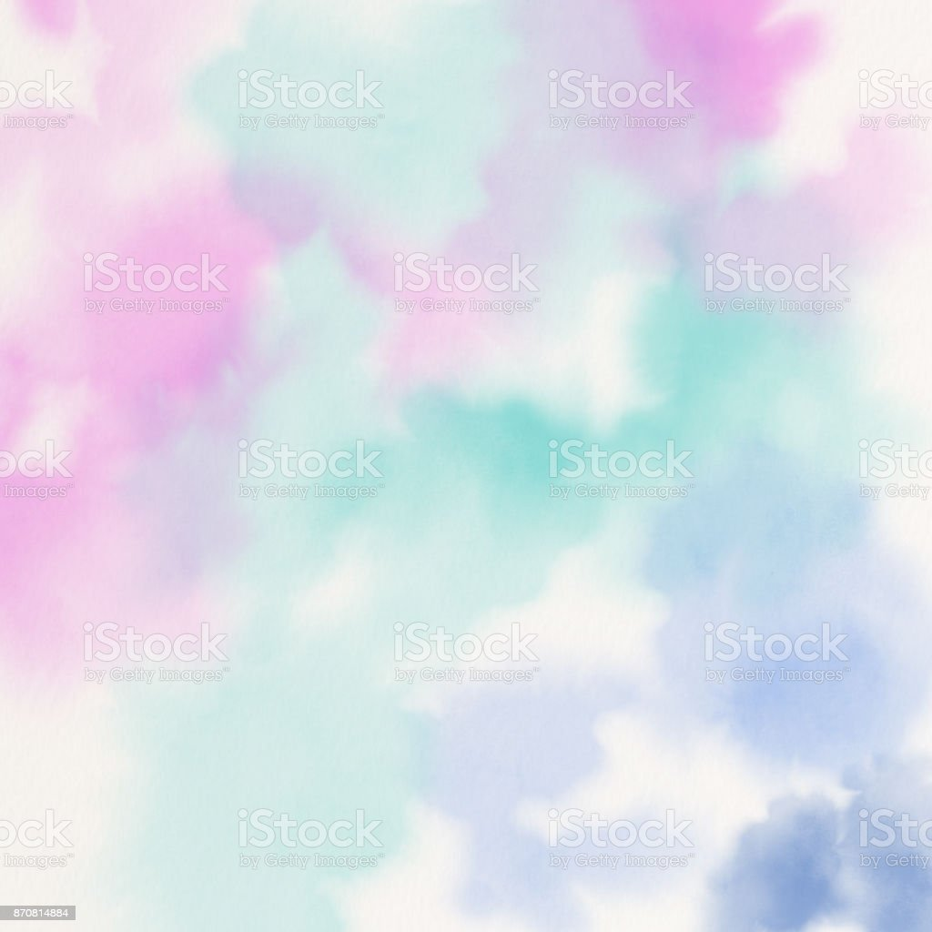 Abstract colorful watercolor for background stock photo