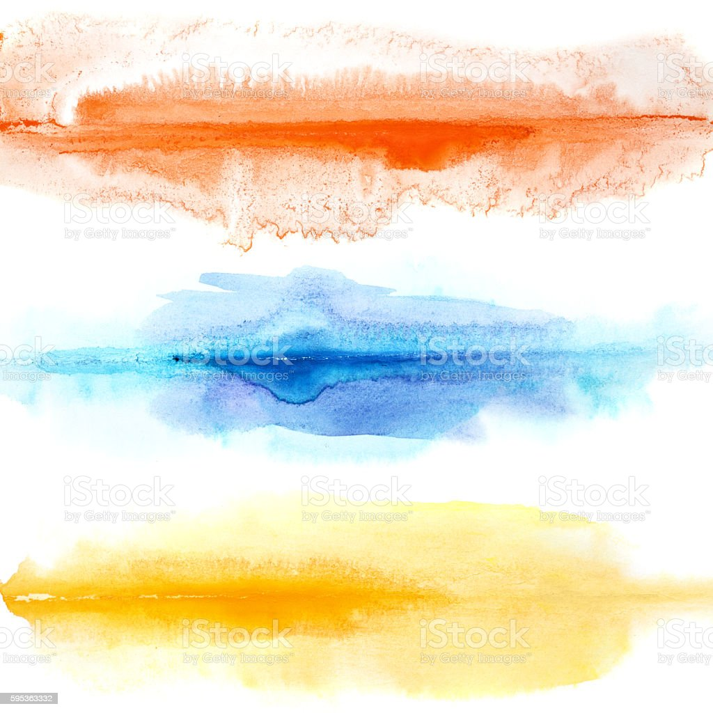 Abstract colorful watercolor lines - Photo
