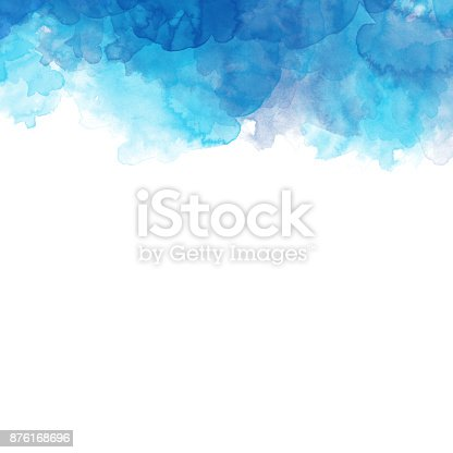 istock Abstract Colorful watercolor painting  background, Colorful brush background. 876168696