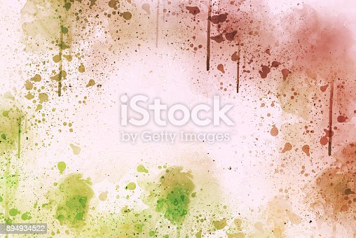 istock Abstract Colorful watercolor painting  background, Colorful brush background. 894934522