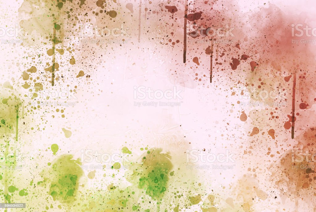 Abstract Colorful watercolor painting  background, Colorful brush background. stock photo