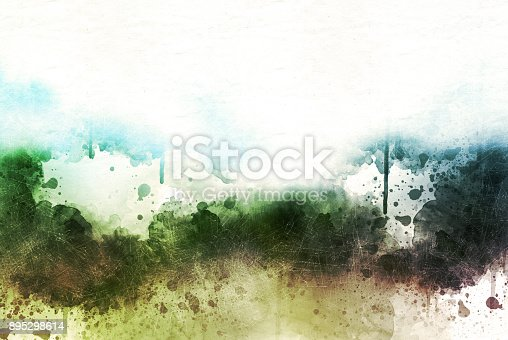 istock Abstract Colorful watercolor painting  background, Colorful brush background. 895298614
