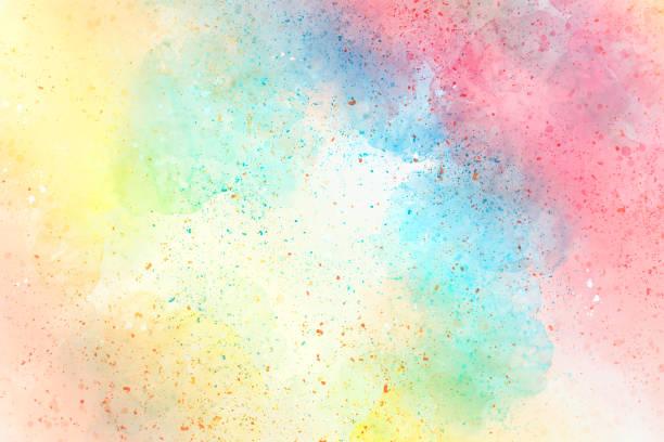 Abstrait aquarelle coloré, fond coloré brosse. - Photo