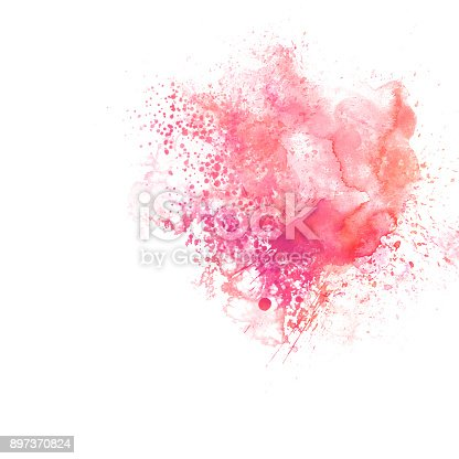 istock Abstract Colorful watercolor painting  background, Colorful brush background. 897370824