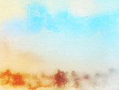 istock Abstract Colorful watercolor painting  background, Colorful brush background. 897791488