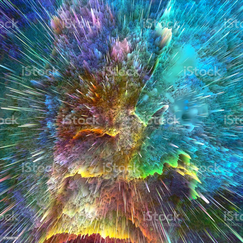 Abstract colors explosion. royalty-free stock photo