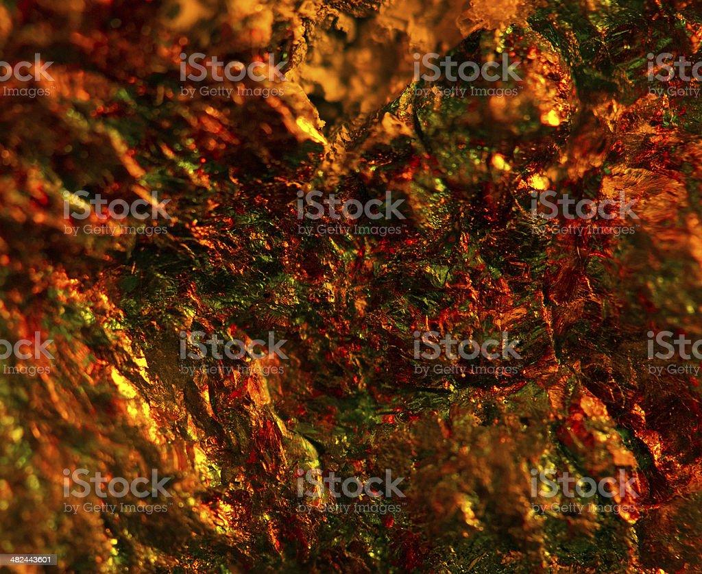 Abstract Colour Dark Background Orange Crystals Macro Stock