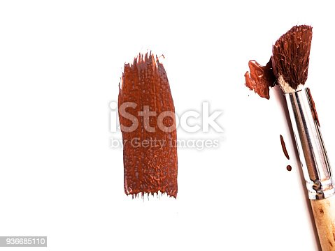 467414017 istock photo abstract colour paintbrush on white paper smear hatch 936685110