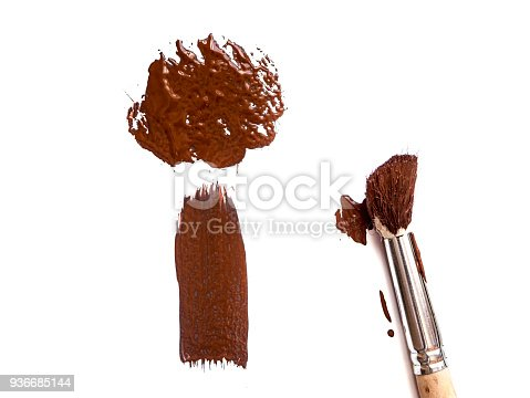 467414017 istock photo abstract colour paintbrush on white paper smear hatch 936685144
