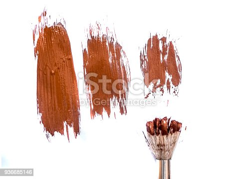 467414017 istock photo abstract colour paintbrush on white paper smear hatch 936685146