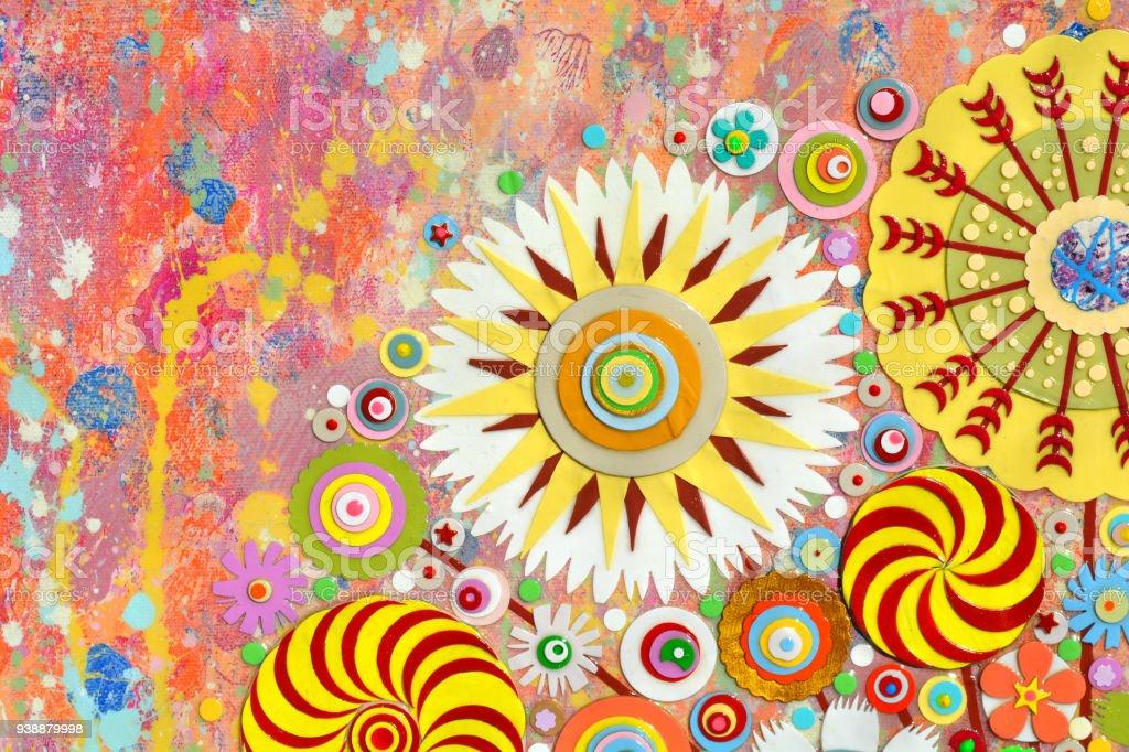 Abstract Colourful Art Acrylic Art Painting On Canvas 3d Art