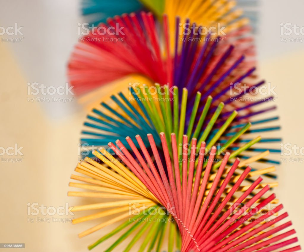 Abstract colourful showpiece objects background photo royalty-free stock photo