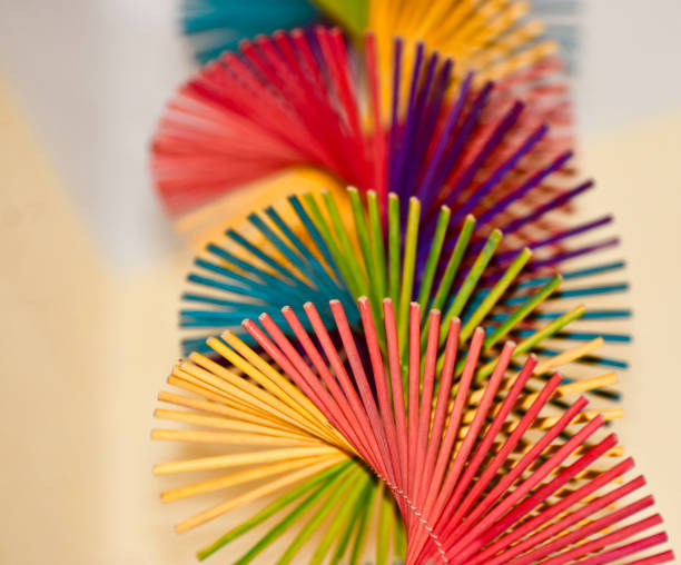 Abstract colourful showpiece objects background photo stock photo