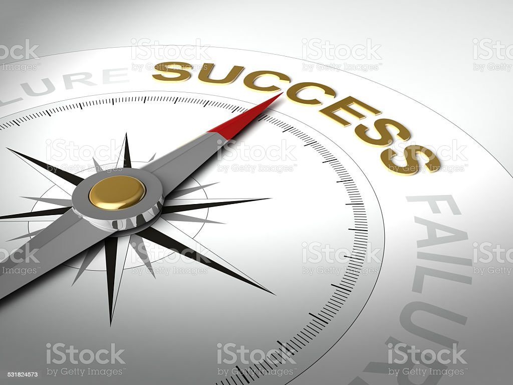 Abstract compass stock photo
