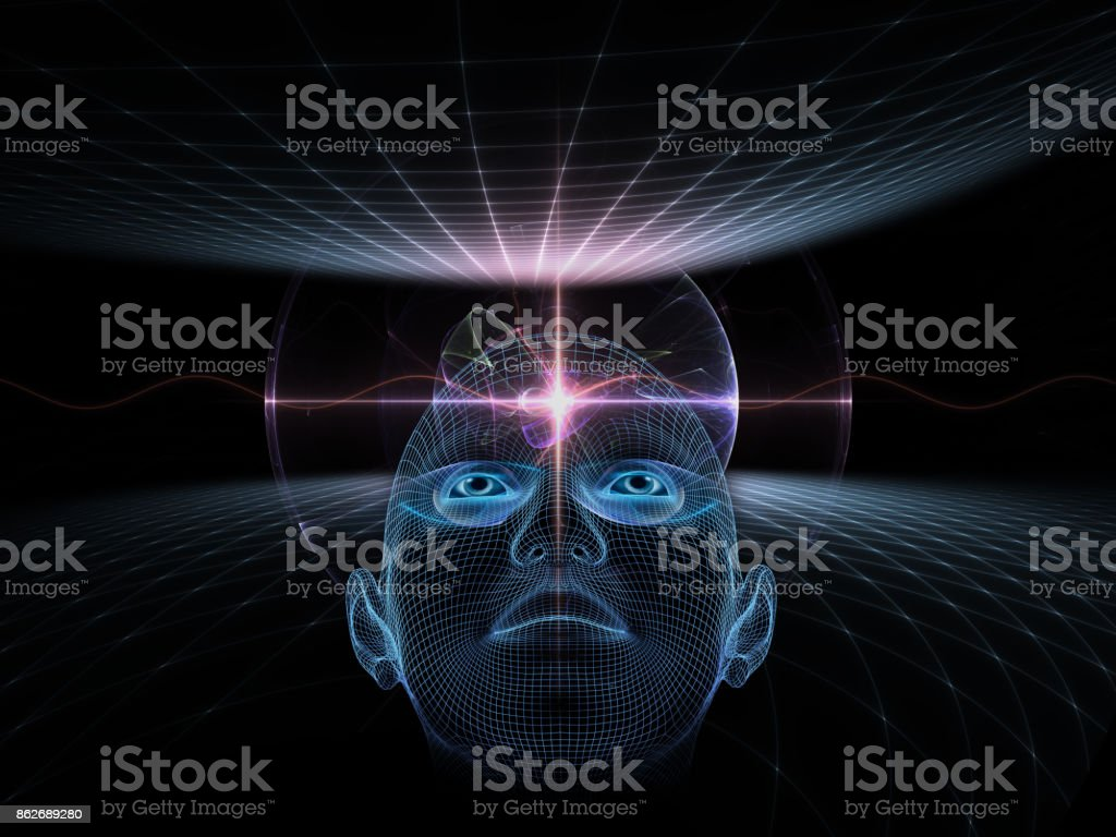 abstract composition, concept spirituality, mind, science stock photo