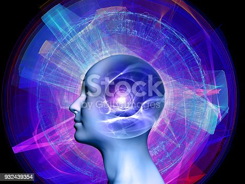istock abstract composition, concept spirituality, mind, science 932439354