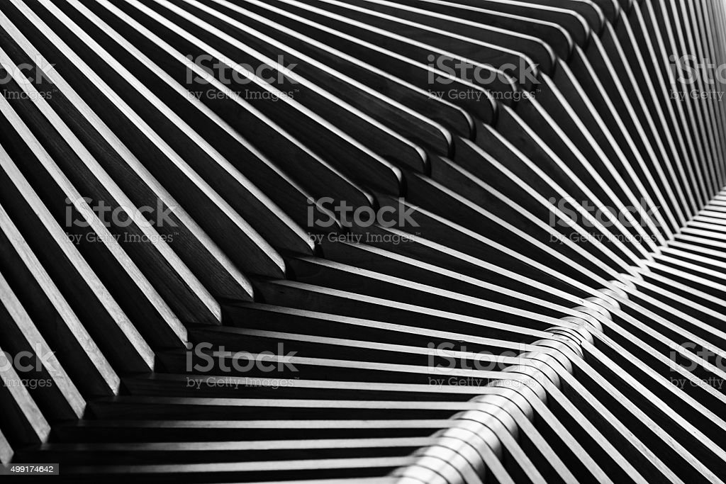 Abstract composition, cross the lines, zebra effect stock photo