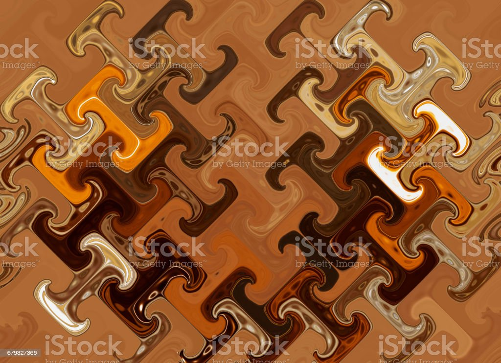 Abstract composition in blue, yellow and brown colors. Abstraction, texture, background royalty-free stock photo