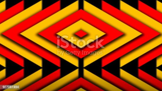 istock Abstract composition of bright arrows 927061934