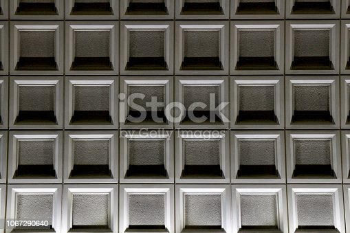istock Abstract composition of geometric walls 1067290640