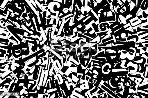 477312602istockphoto Abstract Composition with Letters and Numbers 477312602