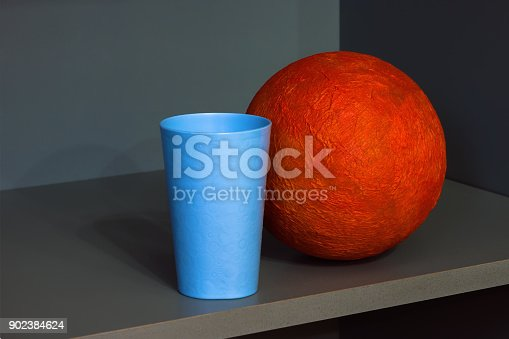 1127798356 istock photo Abstract Composition With Orange Sphere 902384624