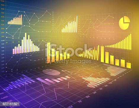istock abstract computer graphics business financial statistics. 522151501