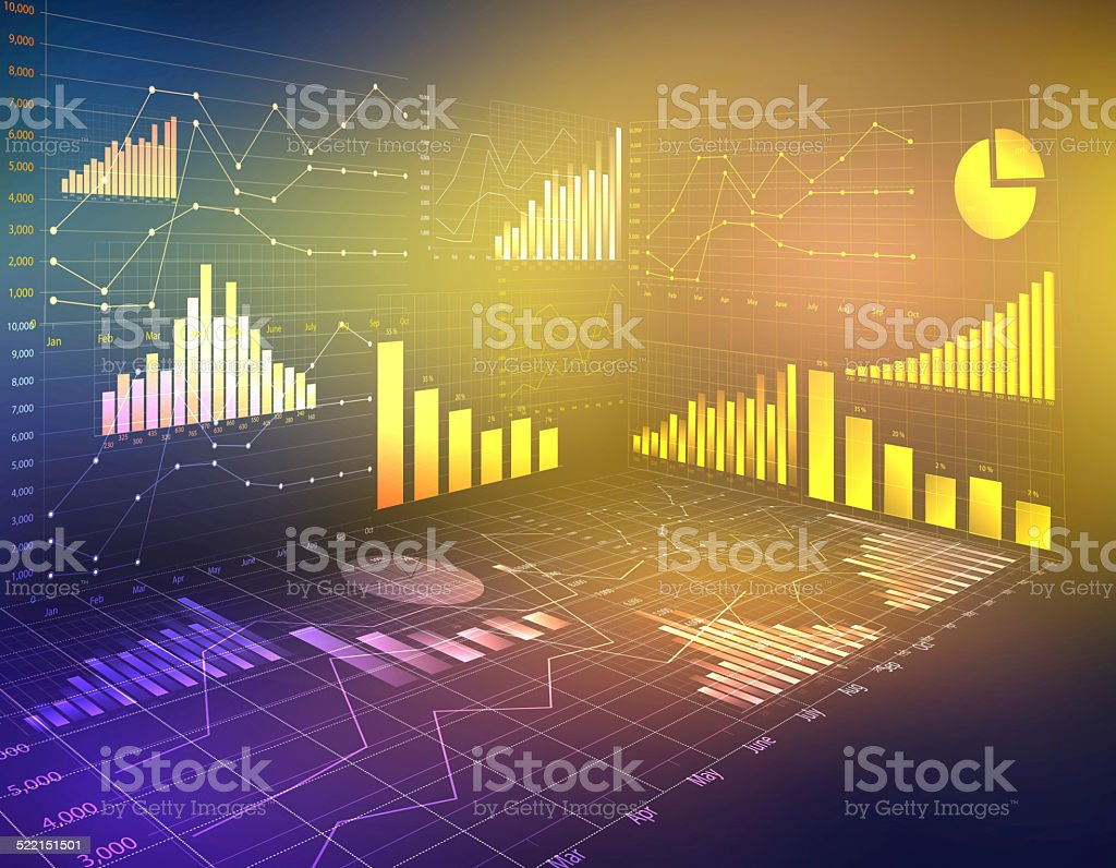 abstract computer graphics business financial statistics. stock photo