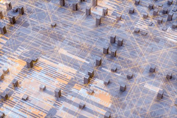 abstrakte computer technologie hintergrund - glasfaser telekommunikationsgerät stock-fotos und bilder