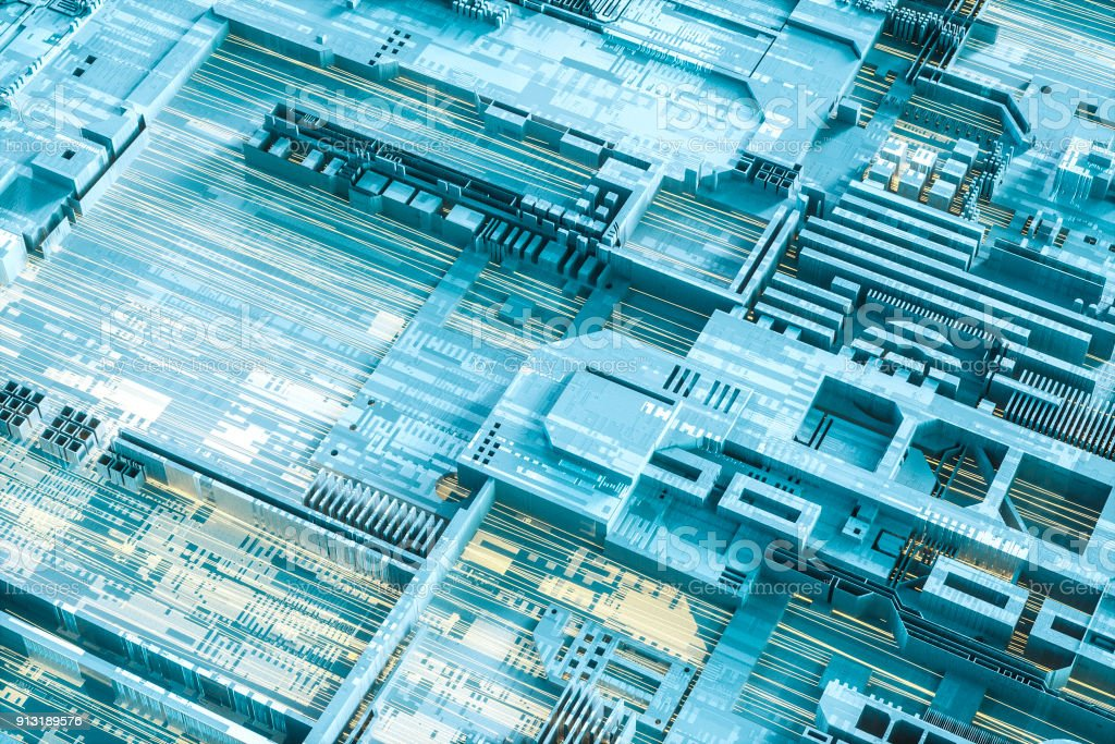 Abstract computer technology background stock photo