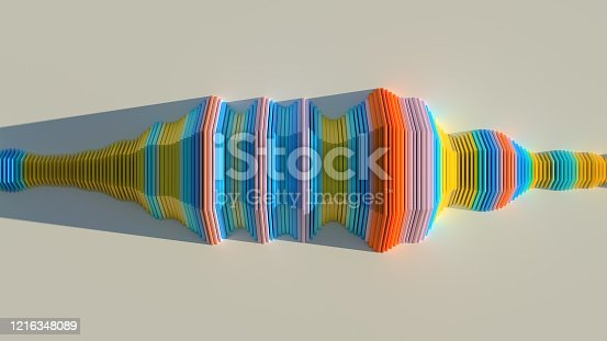 istock Abstract concept. Artificial intelligence or sound analyzer. 1216348089