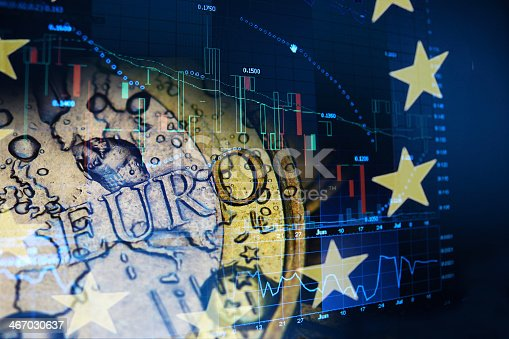 istock Abstract concept of Euro investment 467030637