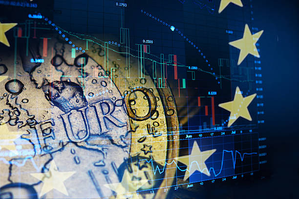 Abstract concept of Euro investment euro invest concept european union currency stock pictures, royalty-free photos & images