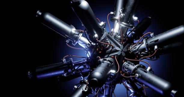 concetto astratto di reattore - reattore nucleare foto e immagini stock