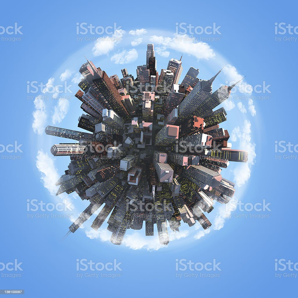Abstract concept of urban city stock photo