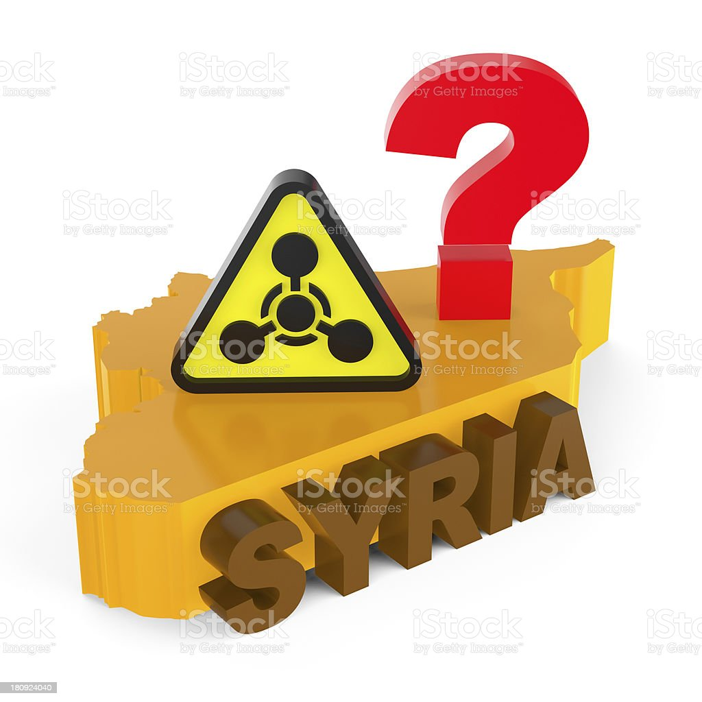 Abstract concept. Use of chemical weapons in Syria. stock photo