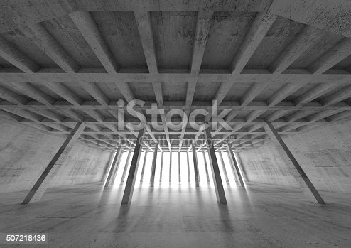 istock Abstract concrete architecture background 3 d 507218436