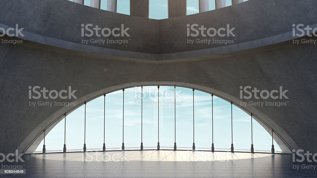 Abstract concrete architecture structure with Sky background. stock photo