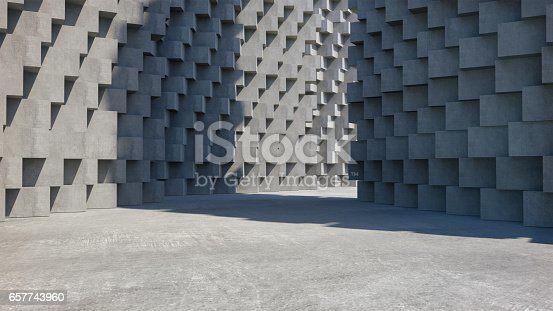 istock Abstract concrete architecture structure,Product showcase,,Abstract empty space. 657743960