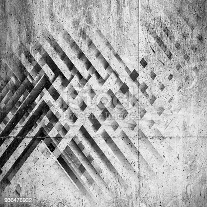 istock Abstract concrete background, 3d art 936476922
