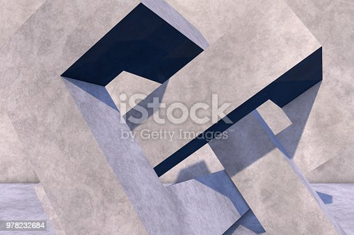 istock Abstract concrete geometric structure background 978232684