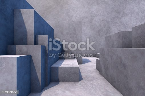 istock Abstract concrete geometric structure background 979358772