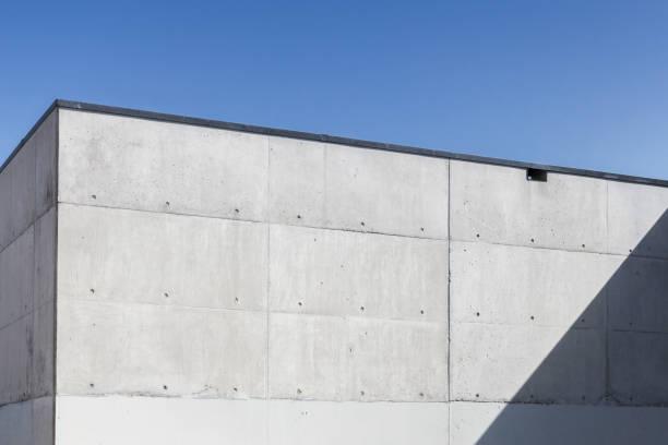 空の下で具体的な抽象的なインテリア、コーナー ストックフォト