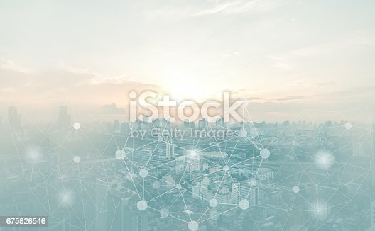 istock abstract connection background 675826546