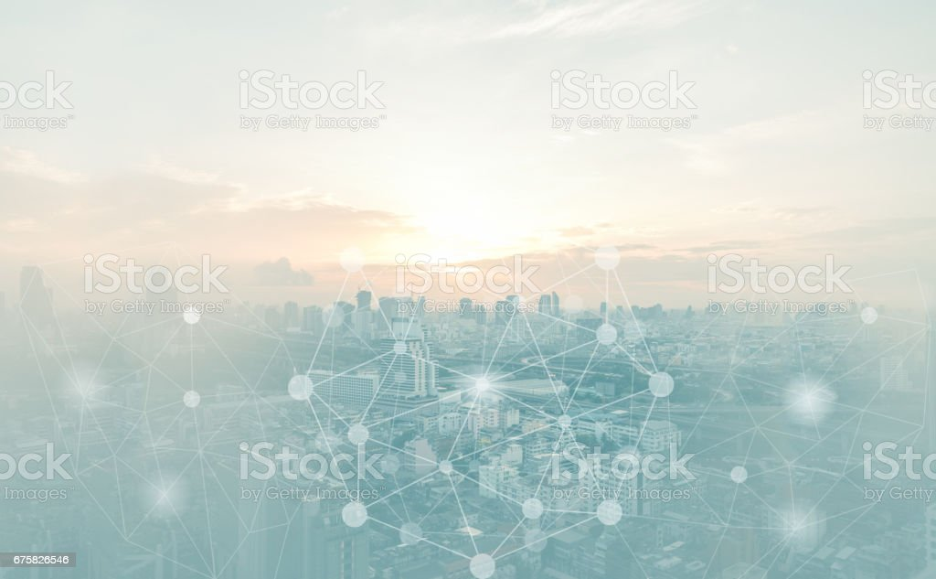abstract connection background stock photo