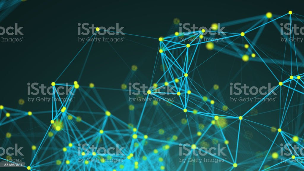 Abstract connection dots. Technology background. Digital illustration. Network concept stock photo